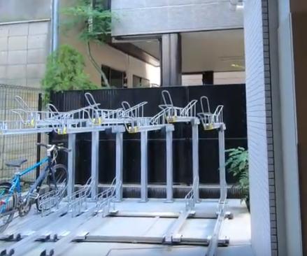 二階式の駐輪場