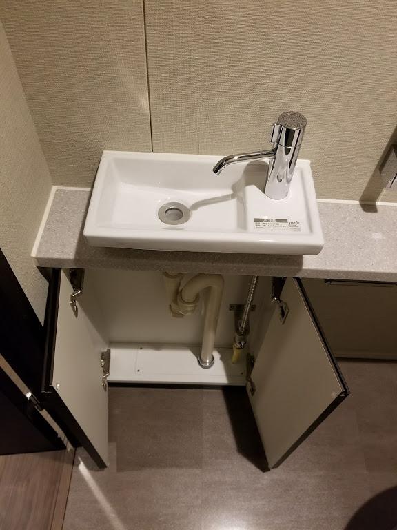 洗面所下の収納スペース