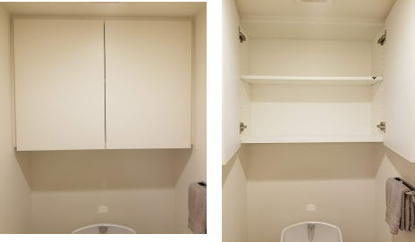トイレ上部の収納スペース