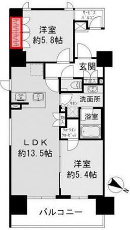 ザ・パークハビオ 目黒 洋室5.8帖クローゼット