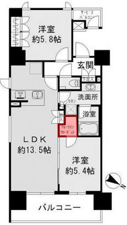 ザ・パークハビオ 目黒 洋室5.4帖クローゼット