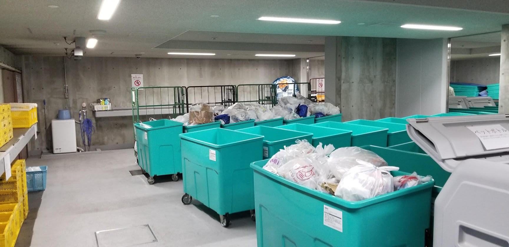 シティテラス東陽町の室内ゴミ置き場