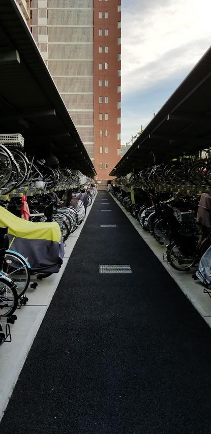 シティテラス東陽町の自転車置き場