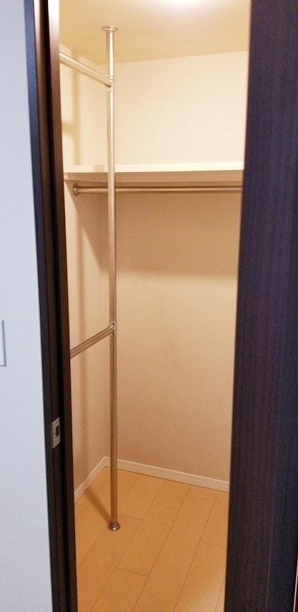 クレストフォルム日本橋水天宮の6.0帖の寝室のウォークインクローゼット