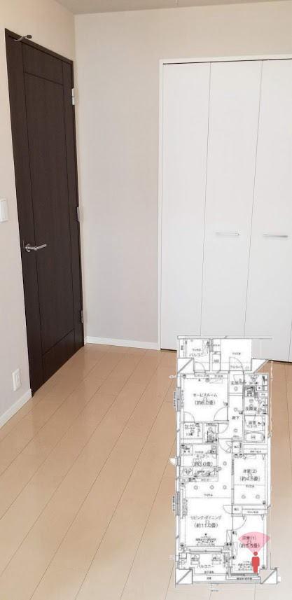 クレストフォルム日本橋水天宮の5.5帖の寝室