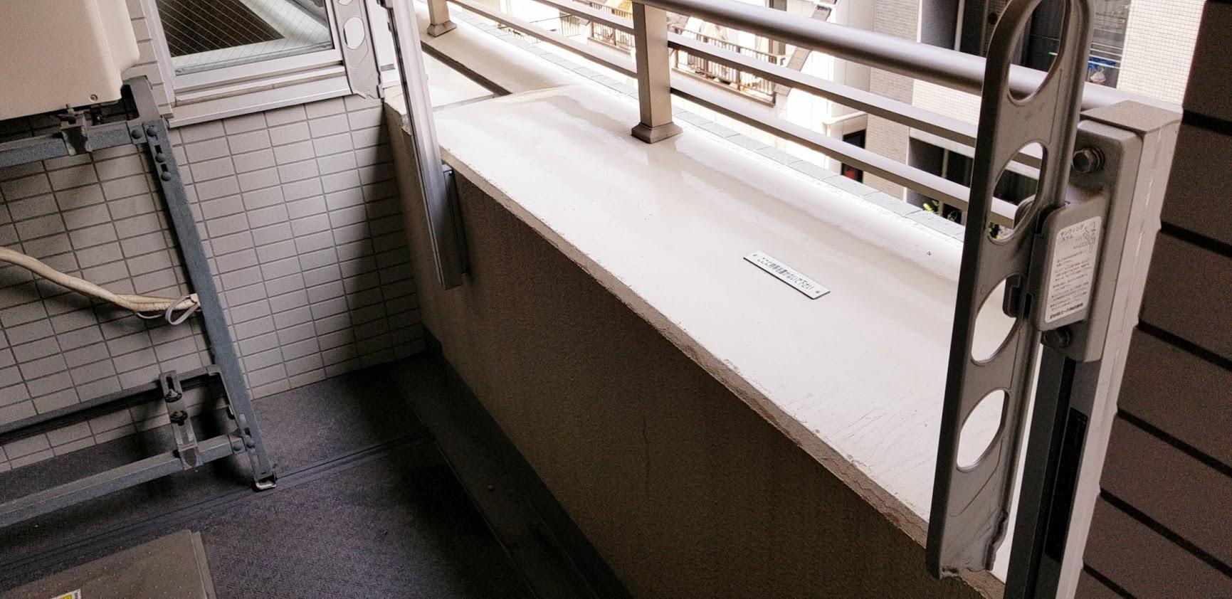 クレストフォルム日本橋水天宮のバルコニー