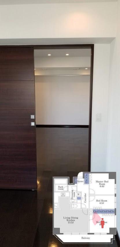 ドゥーエ日本橋の6.1帖の寝室