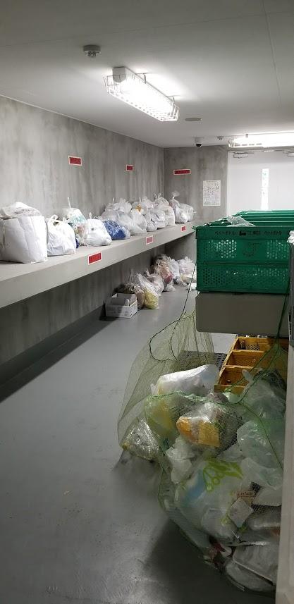 リビオレゾン東陽町ステーションプレミアの室内ゴミ置き場