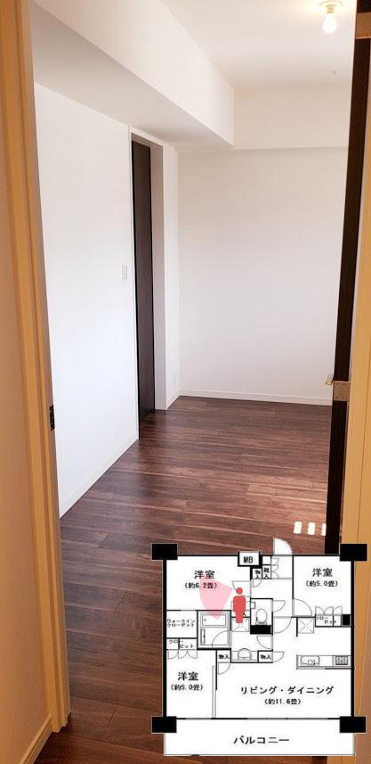 東陽町ステーションプレミアの6.2帖の寝室