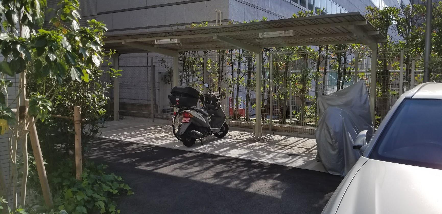 リビオレゾン東陽町ステーションプレミアのバイク置き場