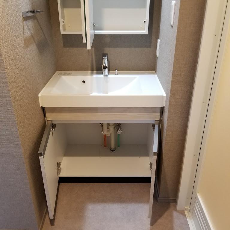 洗面台下の収納スペース