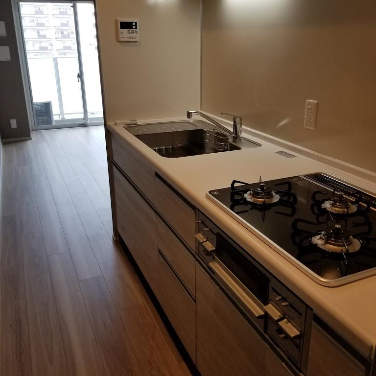 作業スペースもあるキッチン