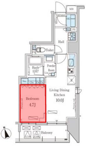 パークアクシス築地 寝室