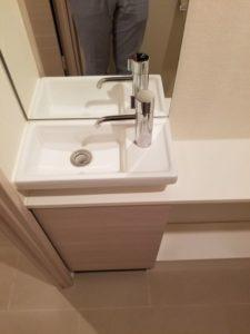 パークハビオ飯田橋 トイレ手洗いカウンター