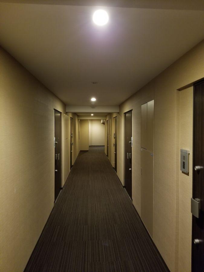パークハビオ飯田橋 共用廊下